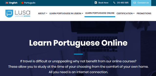 Lusaschool Learn Portuguese Lessons Online