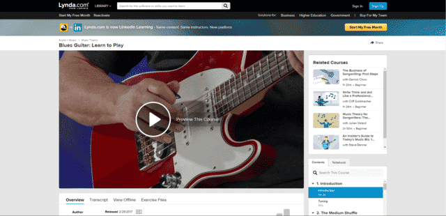 Lynda Learn Blues Guitar Lessons Online