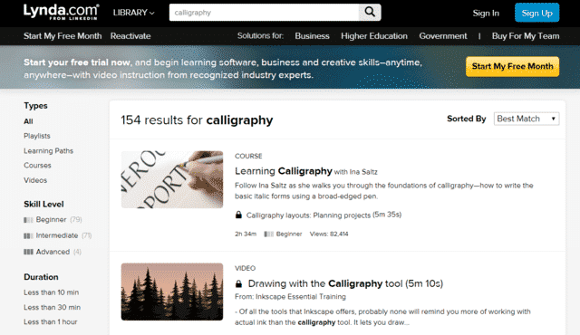 Lynda Learn Calligraphy Lessons Online