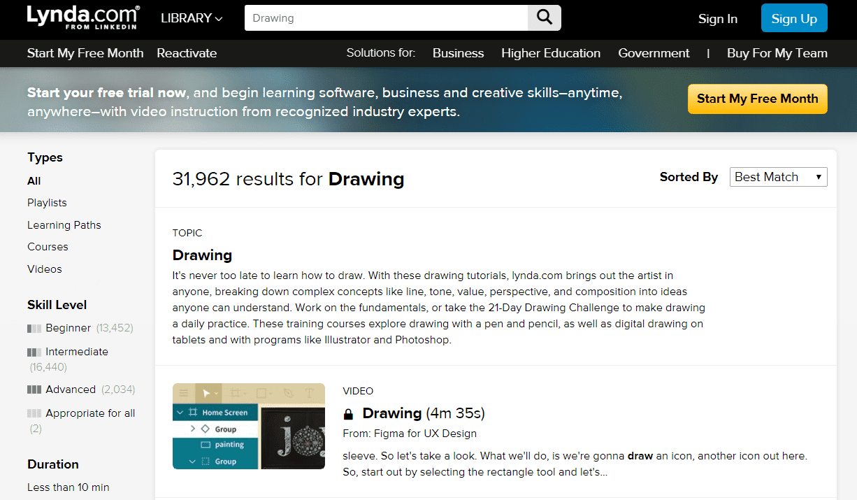Lynda Learn Drawing Lessons Online