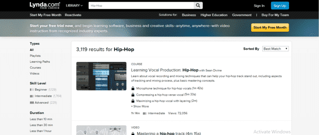 Lynda Learn Hip Hop Lessons Online