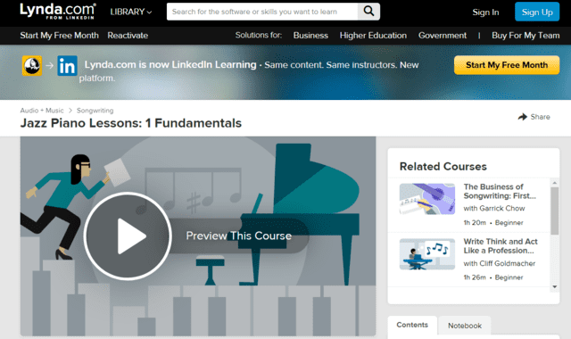 Lynda Learn Jazz Piano Lessons Online