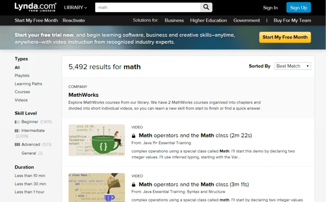 Lynda Learn Maths Lessons Online