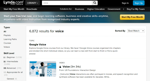 Lynda Learn Voice Lessons Online