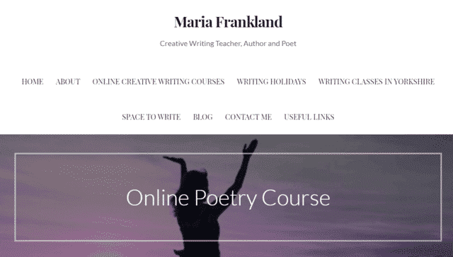 Mariafrankland Learn Poems Lessons Online