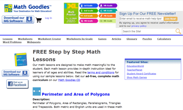 MathGoodies Learn Maths Lessons Online