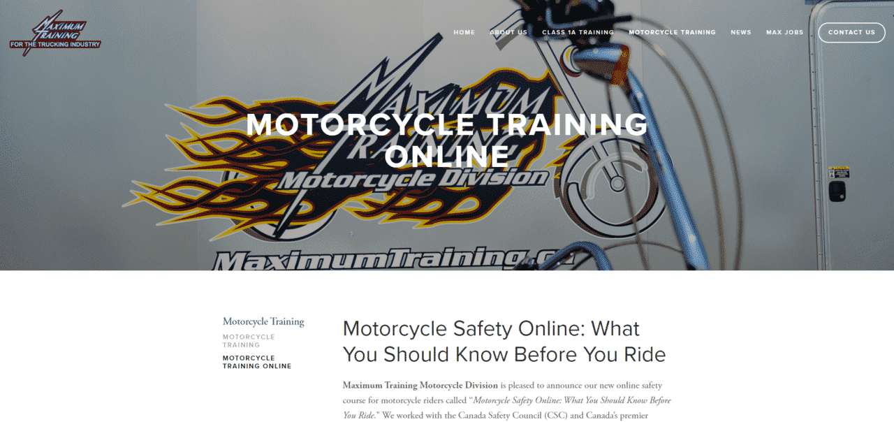 Maximumtraining Learn Motorcycle Lessons Online