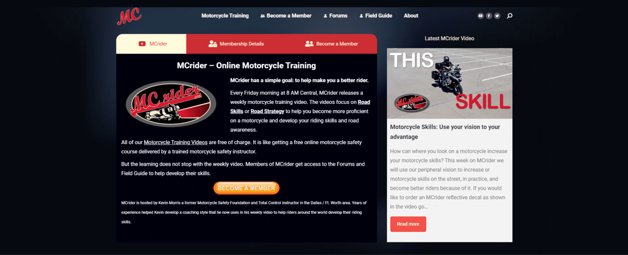 Mcrider Learn Motorcycle Lessons Online