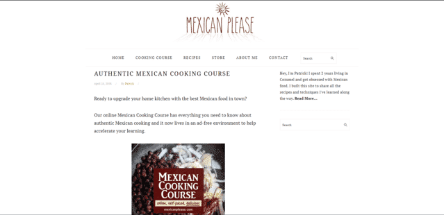 MexicanPlease Learn Mexican Cooking Lessons Online
