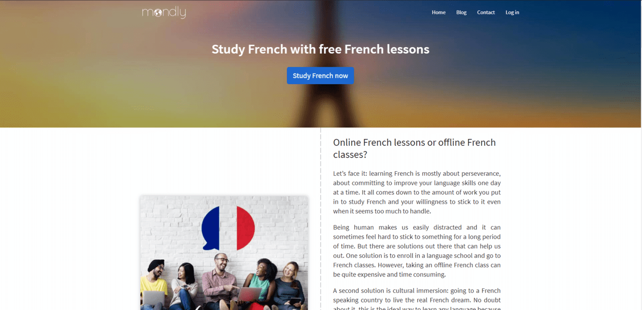 Mondly Learn French Lessons Online