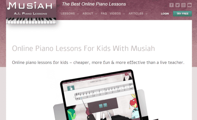 Musiah Learn Kids Piano Lessons Online