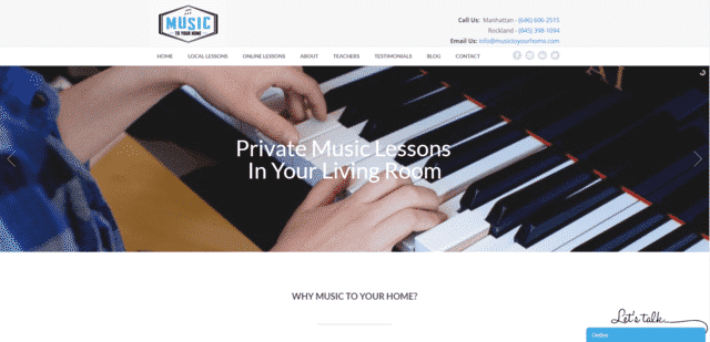 MusicToYourHome Learn Music Lessons Online
