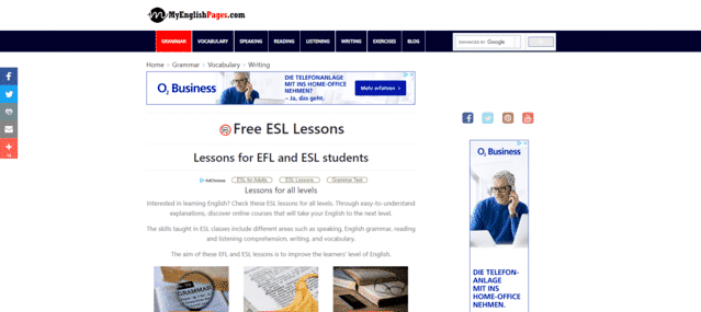 MyEnglishPages Learn ESL Lessons Online