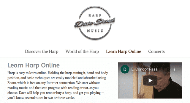 Myharpworld Learn Harp Lessons Online