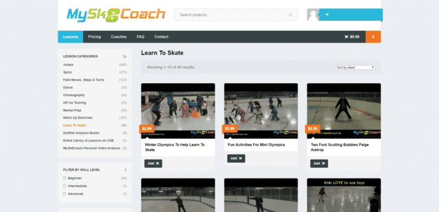 MySkateCouch Learn Ice Skating Lessons Online