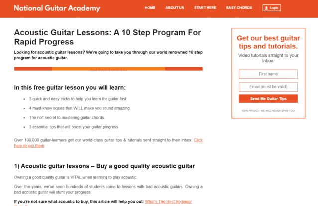 NationalGuitarAcademy Learn Acoustic Guitar Lessons Online