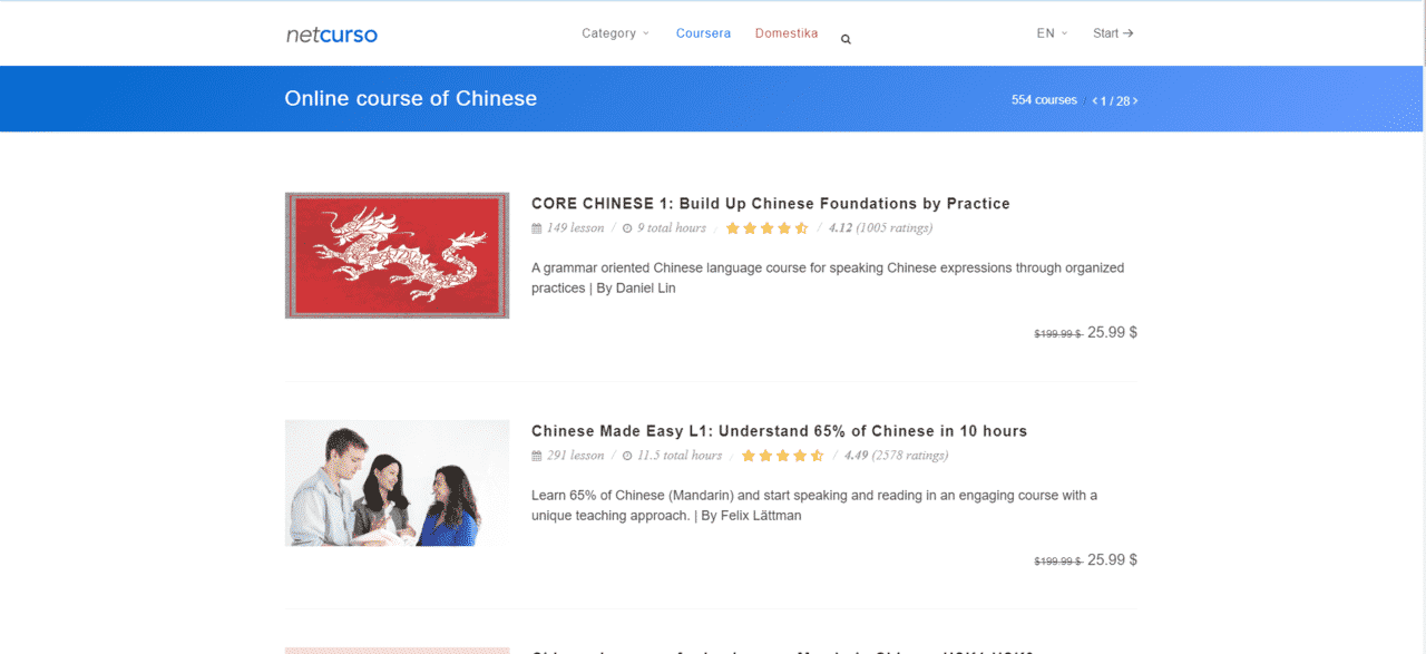 Netcurso Learn Chinese Lessons Online