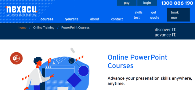 Nexacu Learn PowerPoint PPT Lessons Online