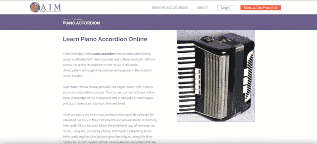oaim learn accordion lessons online