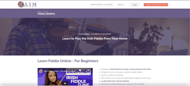 Oaim Learn Fiddle Lessons Online