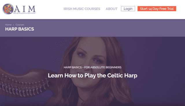 OAIM Learn Harp Lessons Online