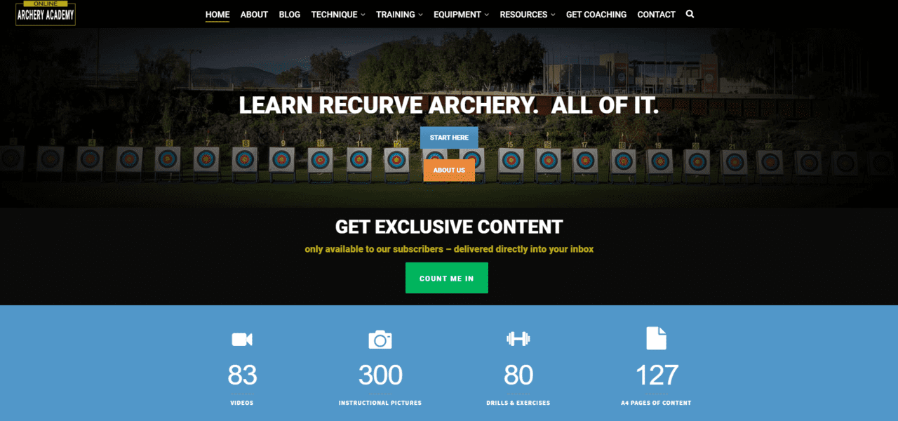 Onlinearcheryacademy Learn Archey Lessons Online