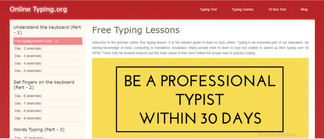 OnlineTyping Learn Typing Lessons Online
