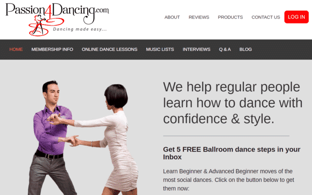 Passion4dancing Learn Ballroom Dance Lessons Online