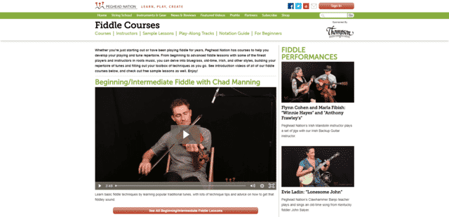 Pegheadnation Learn Fiddle Lessons Online