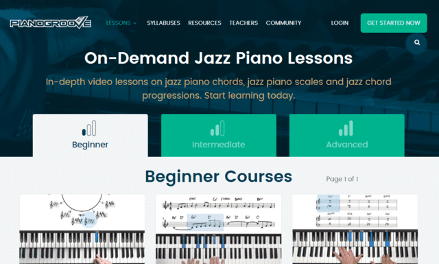 Pianogrove Learn Jazz Piano Lessons Online