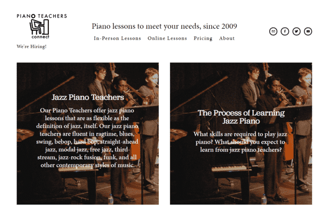 PianoTeachersconnect Learn Jazz Piano Lessons Online