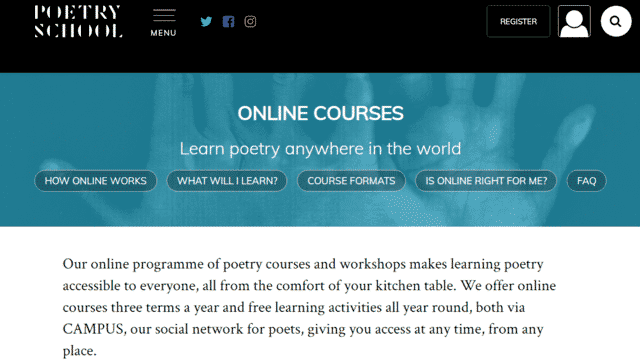 Poetryschool Learn Poems Lessons Online