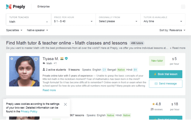 Preply Learn Maths Lessons Online