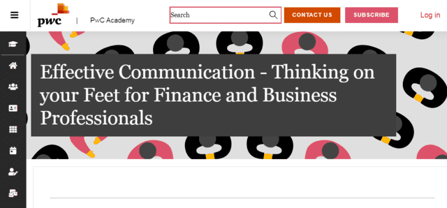 PWC Learn Thinking And Communication Lessons Online