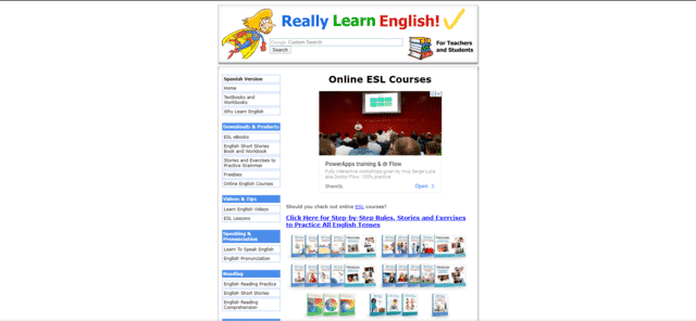 ReallyLearnEnglish Learn ESL Lessons Online