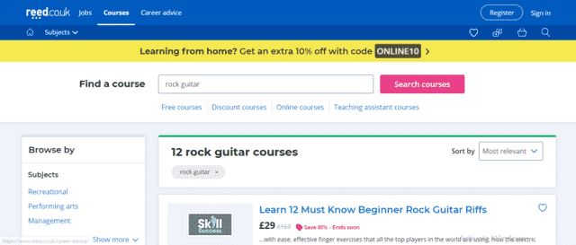 Reed Learn Rock Guitar Lessons Online