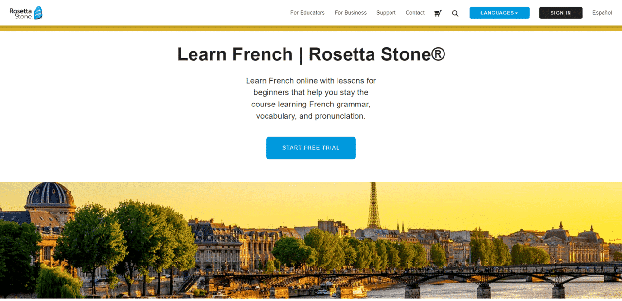 RosettaStone Learn French Lessons Online