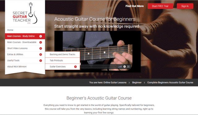 SecretGuitarTeacher Learn Acoustic Guitar Lessons Online