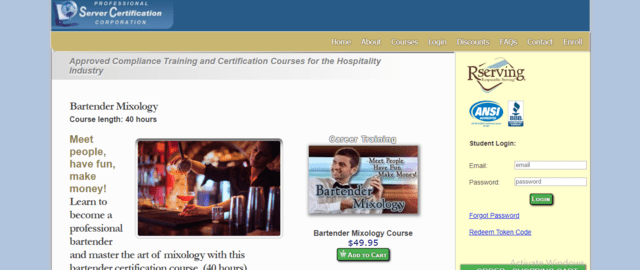 ServerCertificationCorp Learn Mixology Lessons Online