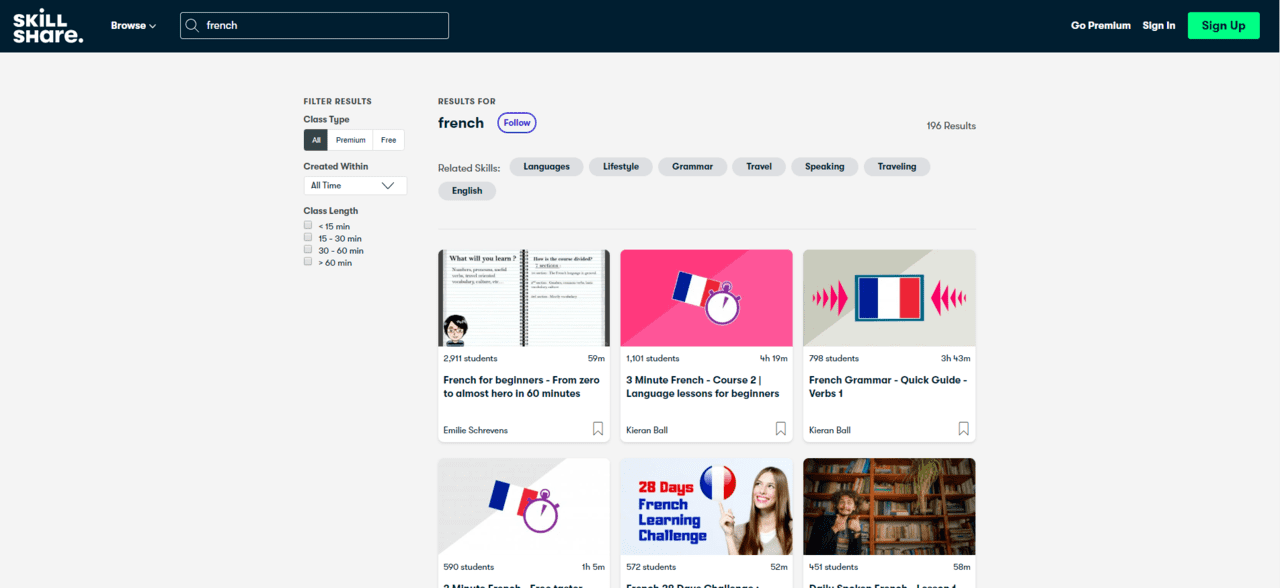SkillShare Learn French Lessons Online