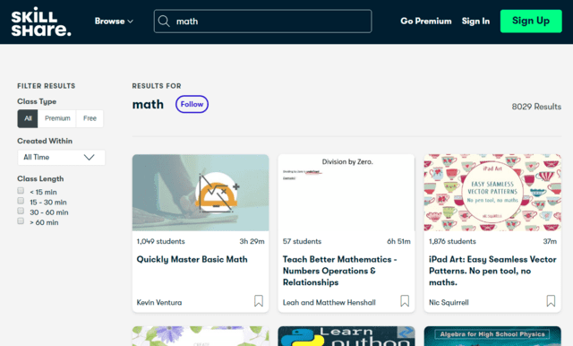 SkillShare Learn Maths Lessons Online