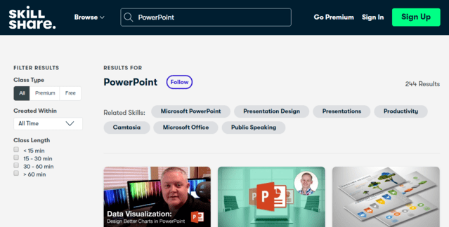 Skillshare Learn PowerPoint PPT Lessons Online