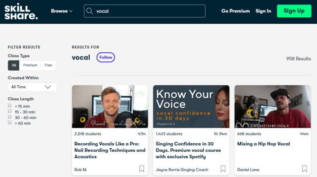 Skillshare Learn Vocal Lessons Online