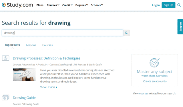 Study Learn Drawing Lessons Online