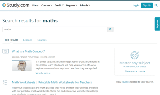 Study Learn Maths Lessons Online