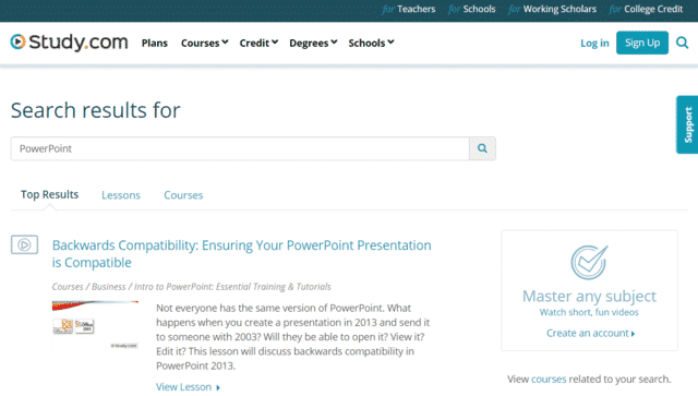 Study Learn PowerPoint PPT Lessons Online