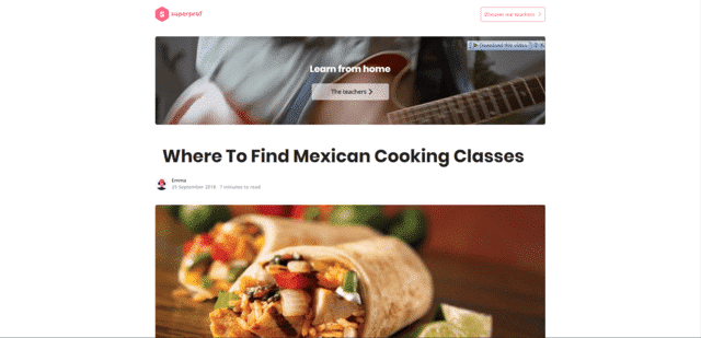 SuperProf Learn Mexican Cooking Lessons Online