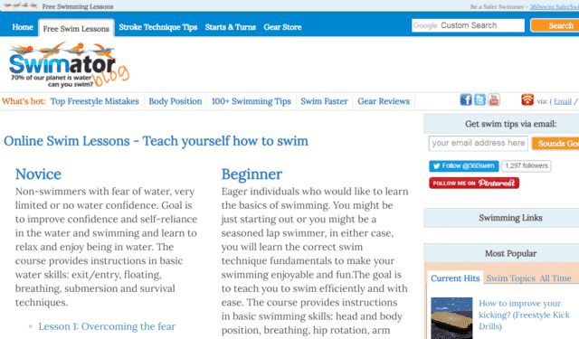 Swimator Learn Swimming Lessons Online