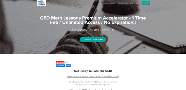Tabletclassacademyteachable Learn GED Math Lessons Online
