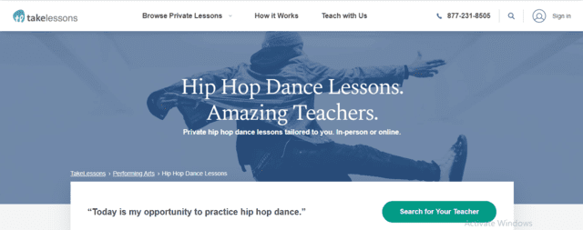 TakeLessons Learn Hip Hop Lessons Online